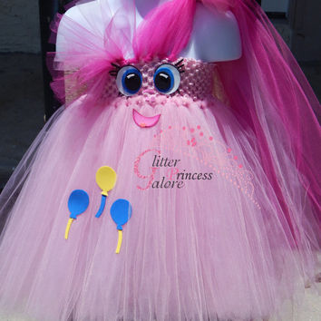 Pinkie Pie Inspired My Little Pony tutu Halloween Costume for girls and adult women