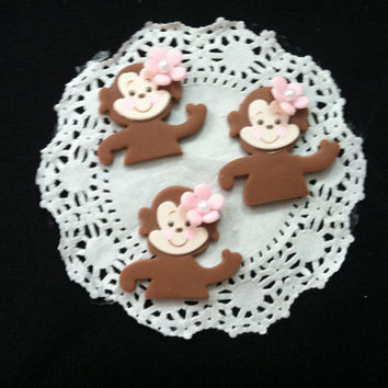 12 Monkey Baby Shower Favor, Monkey Birthday Decoration, Baby Monkey Favors, Jungle Party Decoration, Jungle Monkey, Jungle Safari, Cupcake Monkey
