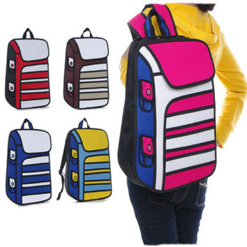 Stripey 2D Backpack
