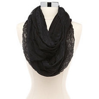 Lace Trim Lightweight Infinity Scarf: Charlotte Russe