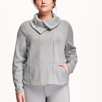 Old Navy Fleece Funnel Neck Plus Size Jacket