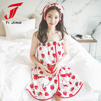 Strawberry  Women's Cute Dot Bath Towel Set With Hair Band Bathrobe Home lolita kawaii japanese girls night sleep dress Z269