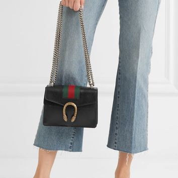 GUCCI Dionysus mini textured-leather shoulder bag