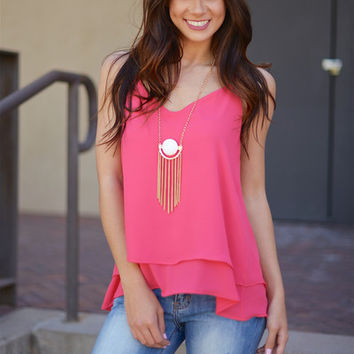 Charming Smile Cross-Strap Tank - Watermelon