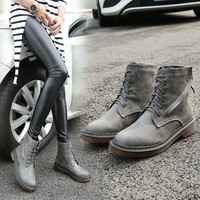 Winter Dr. Martens England Style Flat Shoes [11156051911]