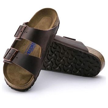 Best Online Sale Birkenstock Arizona Soft Footbed Oiled Leather Habana 0452761/0452763
