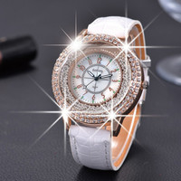 Leather Crystal Diamond Rhinestone Watches