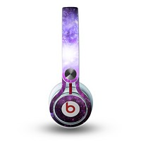 The Purple Space Neon Explosion Skin for the Beats by Dre Mixr Headphones