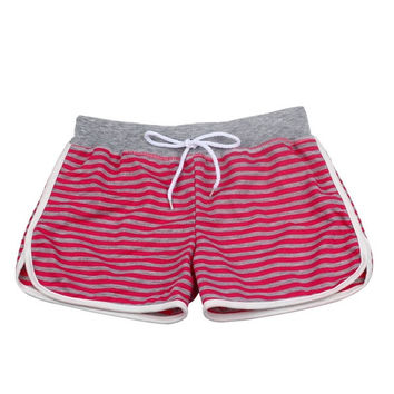 Recreational Sports Thirds Full Printing Yoga Fashion Beach Shorts (Color: Hot pink) = 1933202756