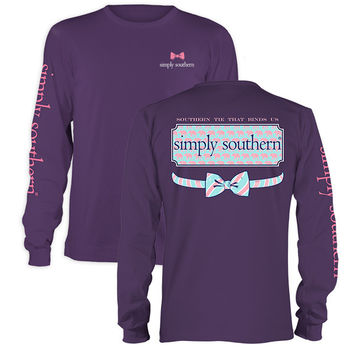 Simply Southern Preppy Elephant Logo Long Sleeve T-Shirt
