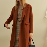 Double-sided Wool-blend Coat