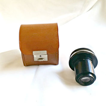 On Sale Vintage Exakta Dresden lens, Vintage Leather Case, Exakta Extenar Comp, Vintage 35 mm camera lens,
