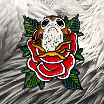 Porg Rose Enamel Pin