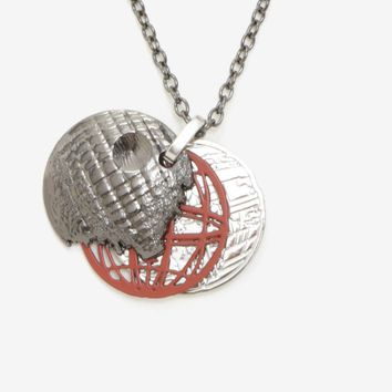 Licensed cool Disney Star Wars Death Star Layered Pendant Necklace 3 Color Disks Licensed NWT