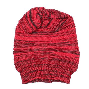 MYPF-Women Hat Warm Winter Cap Hemp Cap Woman Winter Hat (Red)