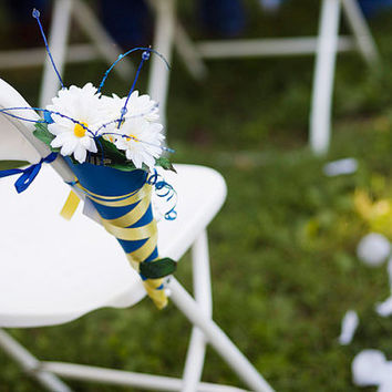 Wedding Flower Cone-Chair, Aisle, Hanging Decoration