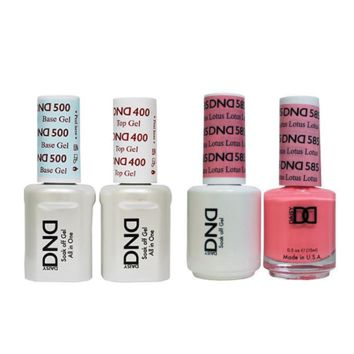 DND - Base, Top, Gel & Lacquer Combo - Lotus - #585