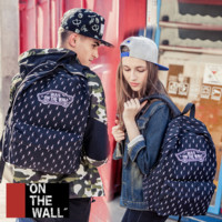 """Vans""Fashion Personality printing large capacity backpack bag leisure travel boom Black lightning(7 style)"