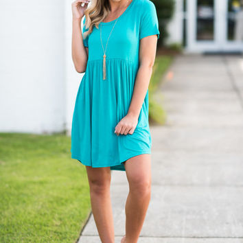 Playful Playlist Dress, Dark Jade