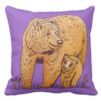 Mother Bear Pillow