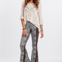Back In Time Printed Flares