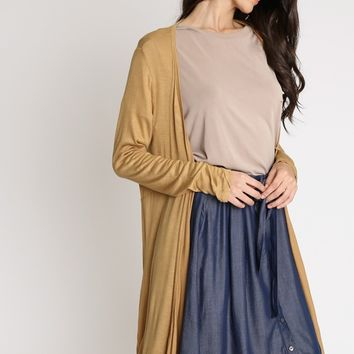 Homebound Longline Cardigan In Yellow | Ruche