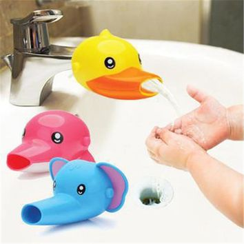 1PCS Cute Cartoon Bathroom Sink Faucet Extender For Kid Children Kid  Washing Hands Accessories For Bathroom