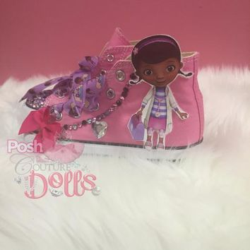 doc mcstuffins inspired bling converse