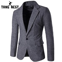 New Arrival Blazer Slim Fit Casual Single Button Men Blazers Comfortable Men Blazer 3 Colors