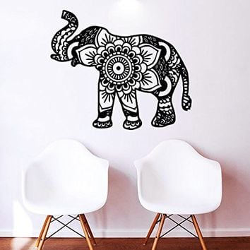 Elephant Wall Decal Vinyl Sticker Decals Ganesh Lord of Success Hindu Hand God Buddha India Yoga Ganesha Lotus Wall Stickers Home Decor Art Bedroom Design Interior Wall Decor Mural