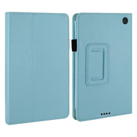 COTS-Slim Folding Smart Cover Case for Kindle Fire HD 6 With Auto Wake / Sleep with Screen Protector and Stylus (Sky Blue)
