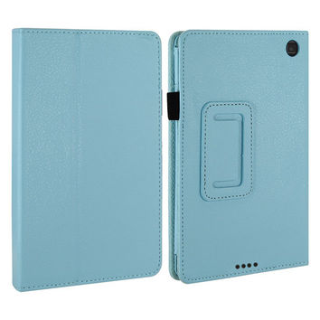 SCS-Slim Folding Smart Cover Case for Kindle Fire HD 6 With Auto Wake / Sleep with Screen Protector and Stylus (Sky Blue)