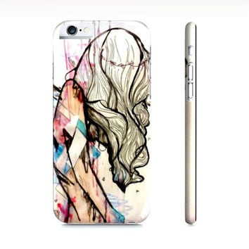 Pink iPhone 6 case - Fashion illustration - Girly iPhone 6 case - Watercolor iPhone 6 case - Case for iPhone 6 - iPhone 6 cover