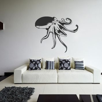 ik1278 Wall Decal Sticker octopus sea animal bedroom bathroom