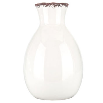 Distressed White Narrow Neck Vase | Hobby Lobby