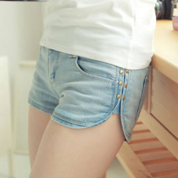 Summer Vintage Wild Light Blue Jeans