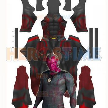 Vision Avengers: Age of Ultron 3D Printing Superhero Spandex Cosplay Costume