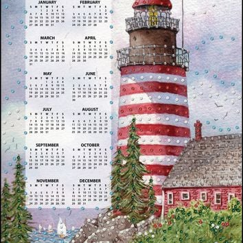 Red Lighthouse Design Works 2019 Calendar Felt Applique Kit
