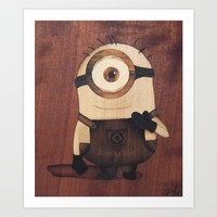 Minion from Gru Art Print by Andulino