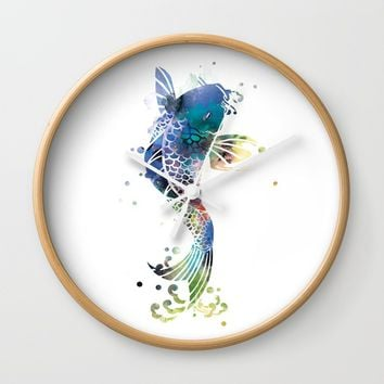 Koi Wall Clock by artsaren