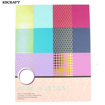 KSCRAFT Home Basics Decorative Gift Wrapping Paper Book Mixed Designs Festival Gift Packing Paper Kit 24sheets/lot