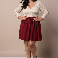 Plus Size Lola Lace Babydoll Dress