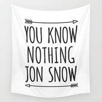 You Know Nothing Jon Snow Game of Thrones Wall Tapestry by Double Dot Designs