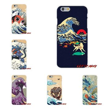 The Great Wave Off Kanto pokemon Slim Silicone phone Case For Samsung Galaxy S3 S4 S5 MINI S6 S7 edge S8 S9 Plus Note 2 3 4 5 8