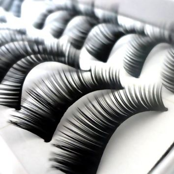 350buy 10 Pairs Natural Long Fake False Eyelashes Eye Makeup