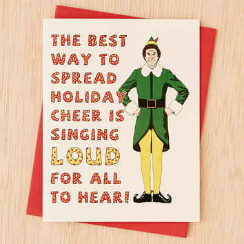 Seas And Peas Spread Holiday Cheer Card - Urban Outfitters