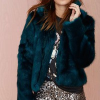 Glamorous Furred Lines Faux Fur Jacket