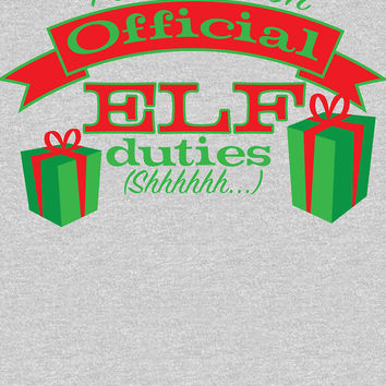 'holidays-official elf business' Women's Relaxed Fit T-Shirt by SleeplessLady