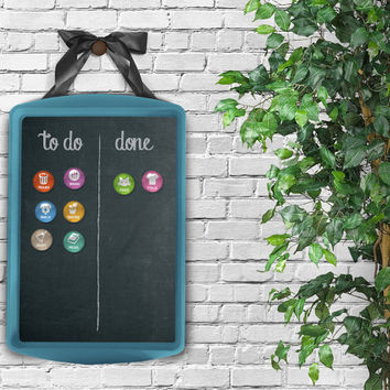 Chore Board + 8 Magnet Set - Magnetic Chore Chart / Magnetic Chore Board / Magnetic Board / Command Center / Family Chores  / Chore Tracker