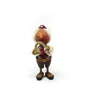 Vintage Casiboy Anri, Swiss Wood figurine C. Casagrande, Wooden doll, Collectible figurine, Gift idea